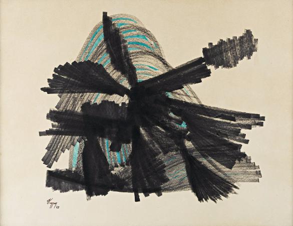 kuzgun acar, kagit uzerinde fuzen, 1963