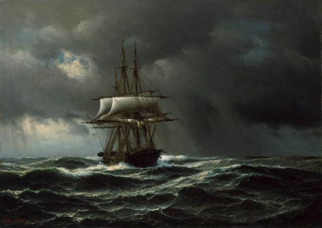 Anton Melbye, Der Orkan, 1866