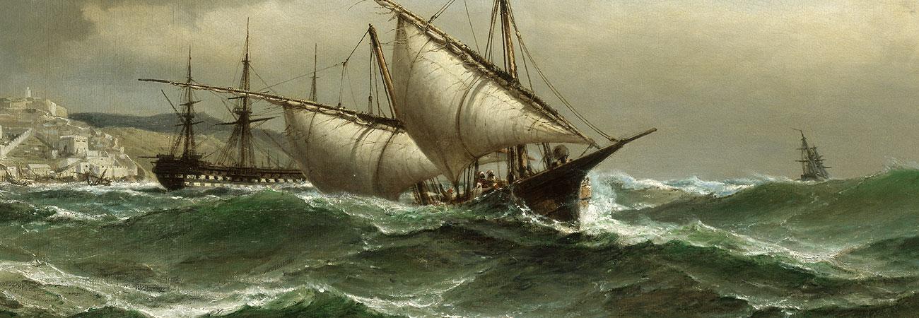 Anton Melbye, Im Sturm, 1865