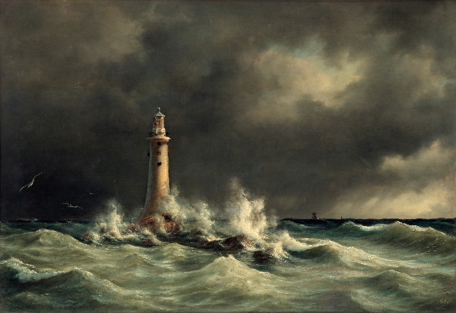 Anton Melbye, Lighthouse At Stora Balt, 1846