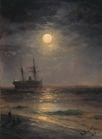 Anton Melbye, Sea at Night, 1865 - 2