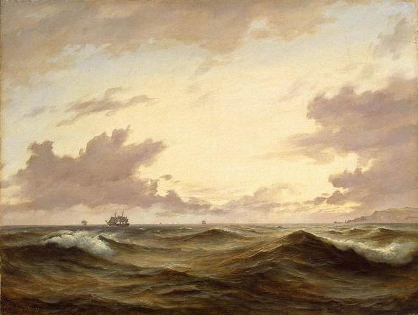 Anton Melbye, Seascape, 1843