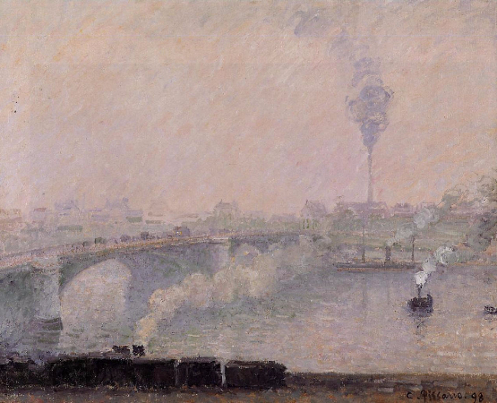 Camille Pissarro, Rouen, Fog Effect