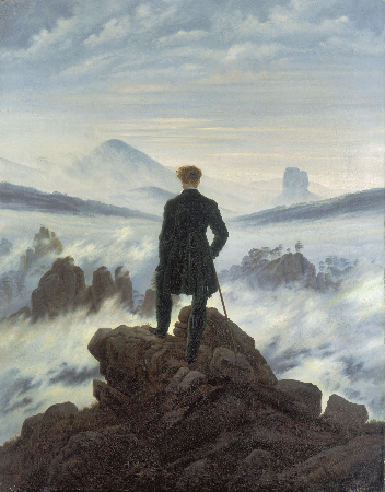 Casper David Friedrich, The Wanderer Above The Sea of Fog, 1818