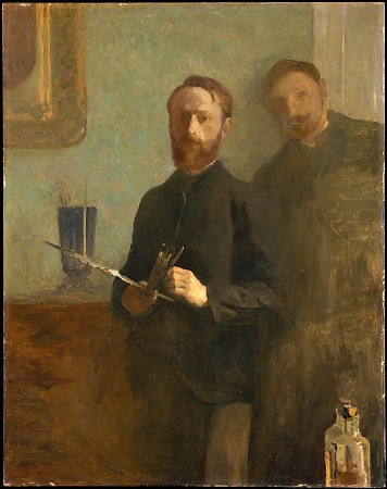 Edouard Vuillard, Self-Portrait With Waroquy, 1889