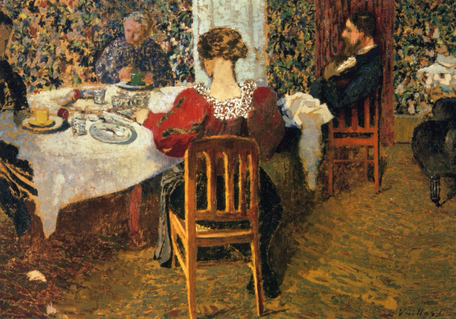 Edouard Vuillard, The End of Breakfast At Madam Vuillard, 1895