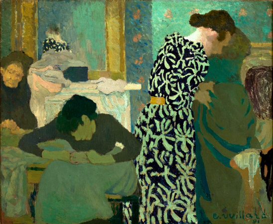 Edouard Vuillard, The Flowered Dress, 1891