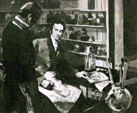 Faraday ve Sir Humphry Davy Laboratuvarda