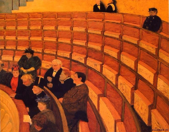Felix Vallotton, The Third Gallery At The Theatre, 1894