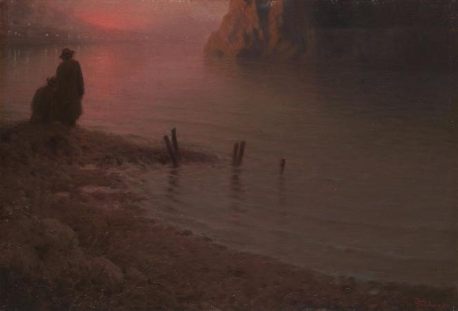 Jakub Schikaneder, Sunset On The Vltava River