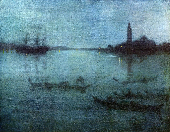 James Abbott McNeill Whistler, Nocturne In Blue and Silver