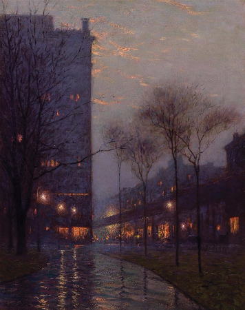 Lowell Birge Harrison, Bryant Park At Evening