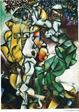 Marc Chagall, Adam and Eve, 1912