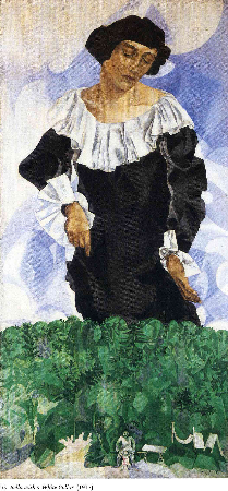 Marc Chagall, Bella With White Collar, 1917