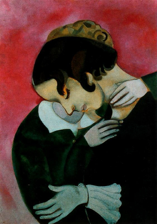 Marc Chagall, Lovers In Pink, 1916