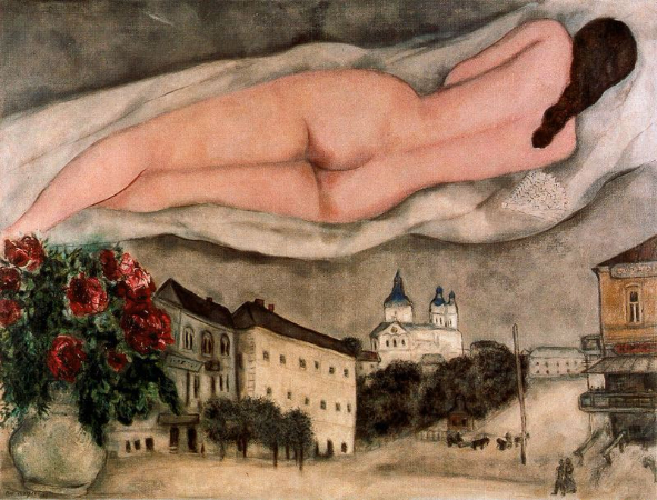 Marc Chagall, Nude Over Vitebsk, 1933