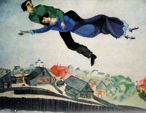Marc Chagall, Over The Town, 1918