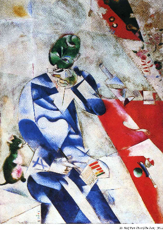 Marc Chagall, The Poet, 1912