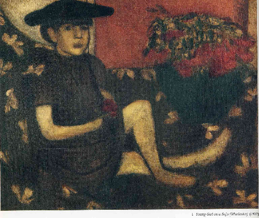 Marc Chagall, Young Girl On A Sofa (Mariaska), 1907