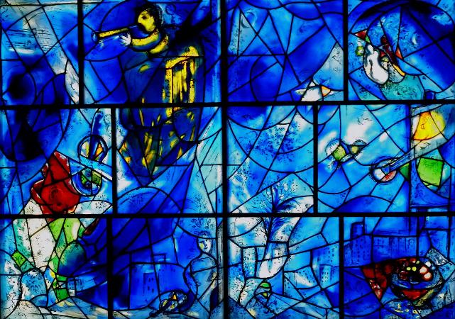 Marc Chagall, vitray calismasi