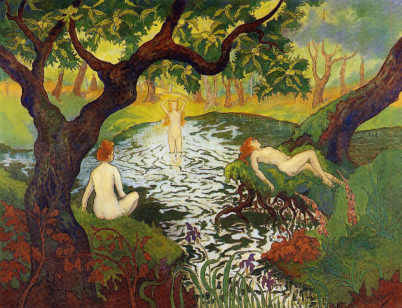 Paul Ranson, Three Bathers With Irises, 1890