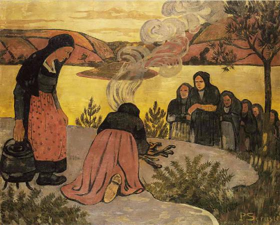 Paul Serusier, Le feu dehors, 1893
