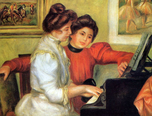 Pierre-Auguste Renoir, Yvonne and Christine Lerolle At The Piano, 1897