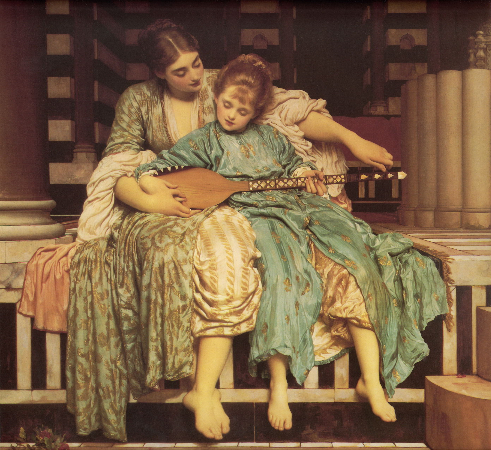 Sir Frederic Lord Leighton, Music Lesson, 1884