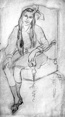 Tamara de Lempicka, Portrait of Kleinman, 1915