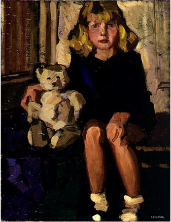 Tamara de Lempicka, Portrait of a Little Girl With Her Teddy Bear, 1922
