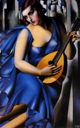 Tamara de Lempicka, Woman with Mandolin, 1933