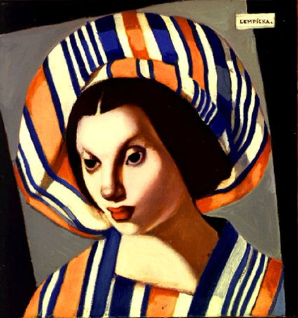 Tamara de Lempicka, Young Lady With a Beret, 1971