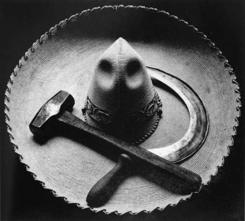 Tina Modotti, Sickle, Hammer and Sombrero, Mexico, 1927