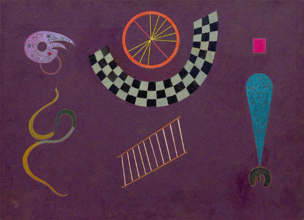 Wassily Kandinsky, Ribbon With Squares, 1944