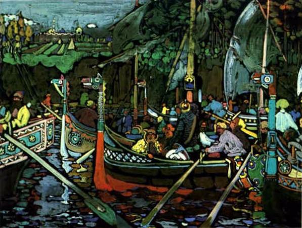Wassily Kandinsky, Volga Song, 1906