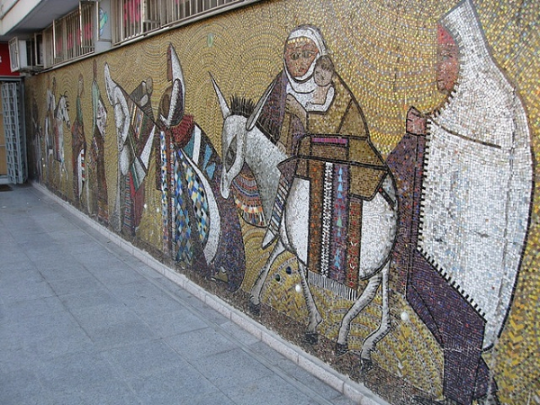 eren eyuboglu, figuratif mozaik pano