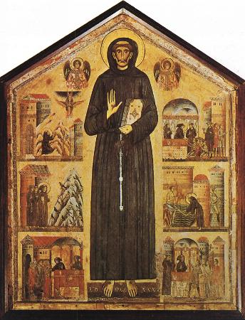 Bonaventura Berlinghieri, Scenes From The Life of St. Francis, 1235