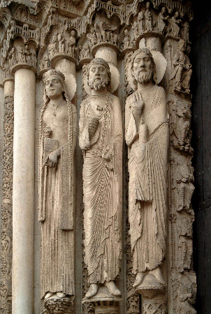 Chartres Katedrali bati portali