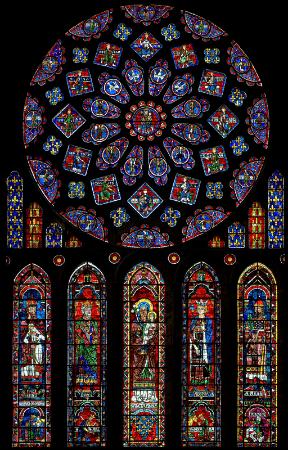 Chartres Katedrali gul pencere