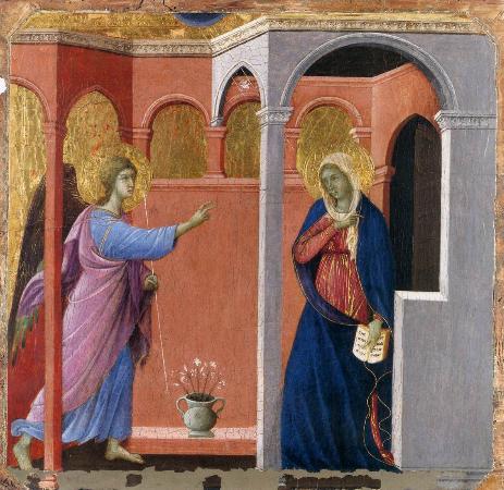 Duccio di Buoninsegna, Annunciazione, 1308-1311