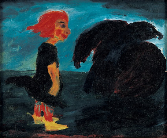 Emil Nolde, Child and Large Bird, 1912