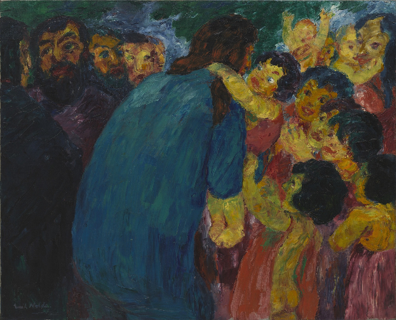 Emil Nolde, Christ and the Children, 1910