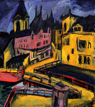 Erich Heckel, Bridge By The City Gate, Chemnitz, 1910