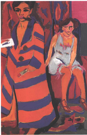 Ernst Ludwig Kirchner, Self-Portrait With a Model, 1910