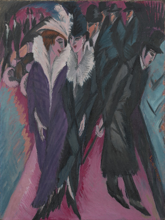 Ernst Ludwig Kirchner, Street, Berlin, 1913
