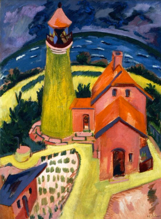 Ernst Ludwig Kirchner, The Lighthouse of Fehmarn, 1912