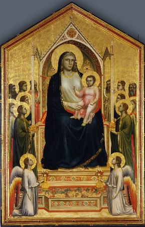 Giotto di Bondone, Maesta (Ognissanti Madonna), 1305-1310