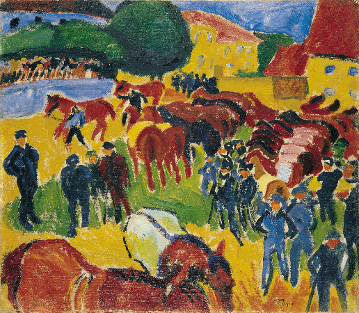 Hermann Max Pechstein, Horse Fair, 1910