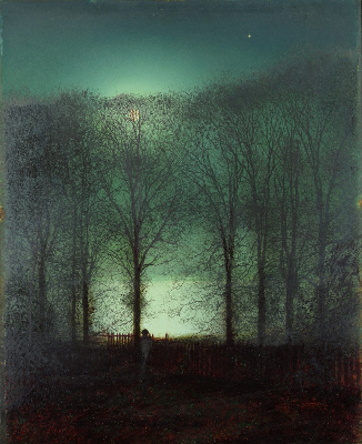 John Atkinson Grimshaw, Figure In The Moonlight