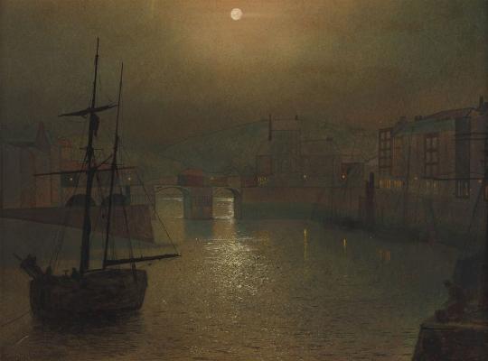 John Atkinson Grimshaw, Harbor Scene, 1878